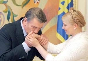 Ющенко заявил, что не подаст руки Тимошенко