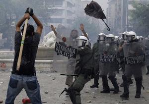 Фотогалерея: Греческая борьба. Массовые беспорядки в центре Афин