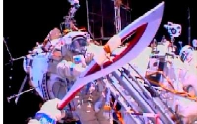 Впервые в истории олимпийский факел побывал в открытом космосе