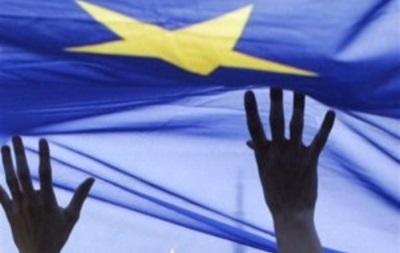 Во Львове прошла акция в поддержку евроинтеграции
