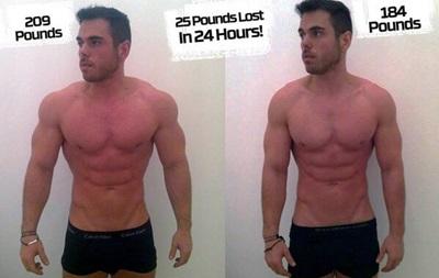 Спортсмену удалось похудеть на одиннадцать килограммов за сутки