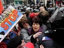 На Майдане Независимости продолжается антинатовский митинг
