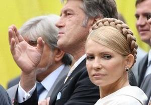 Тимошенко пообещала не реагировать на критику со стороны Ющенко