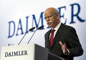 Daimler намерен увеличить уровень продаж на 48% к 2015 году