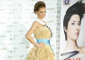 Представительница Украины на Мисс Вселенная-2010 выступит в костюме снопа с косой Тимошенко