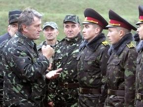Ющенко объявил призывы в армию