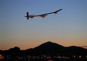 Самолет на солнечных батареях на финише турне по США