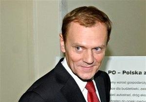 Туск планирует уйти с поста лидера правящей в Польше партии