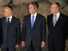 Буш посетил мемориал памяти жертв Холокоста