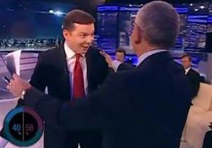 Почему Вы убили свою жену?  : Ляшко привел супругу на ток-шоу Шустера после перепалки с Олесем Бузиной