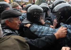 Милиция пресекла попытку установить на Майдане палатку
