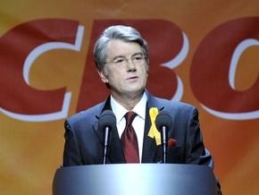 На Майдане транслируют предвыборную программу Ющенко