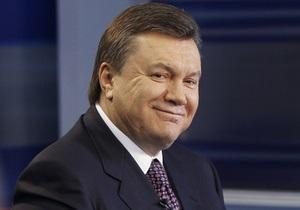 Янукович поздравил украинцев с днем Святой Троицы