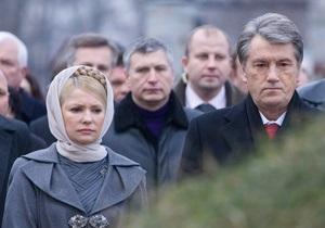Ющенко прочитает лекцию в КИМО, а Тимошенко проведет прямую линию в Комсомольской правде