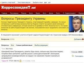 Заявление Украинской правды и Корреспондент.net по поводу вопросов интернет-пользователей Президенту