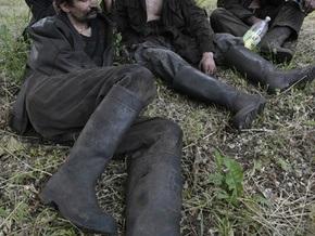 Пикет в Горловке: горняки шахты Гагарина третий день не опускаются под землю