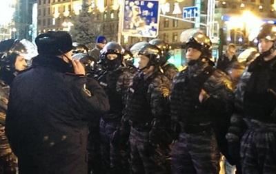 Майдан оцеплен кордоном милиции, на площади находятся не менее двух тысяч правоохранителей