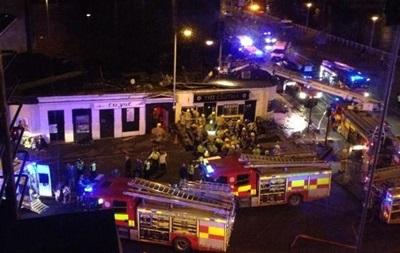 На крышу пивной в Глазго рухнул вертолет