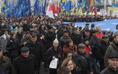 В акции оппозиции на Майдане участвуют европейские политики