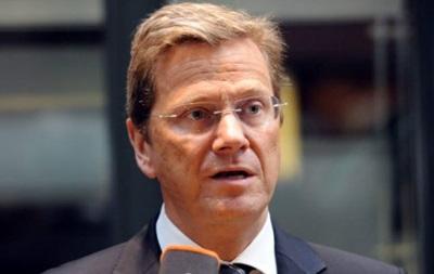 Вестервелле - Евромайдан - Германия - Глава МИД Германии посетил Евромайдан в Киеве