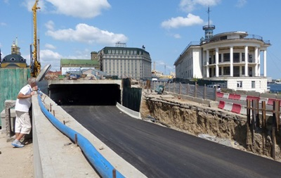 Это все Евромайдан. Киевские власти задерживают открытие туннеля на Почтовой площади
