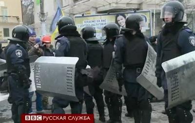 Спецназ Беркут в центре Киева