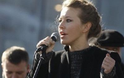 Ксения Собчак посетит киевский Евромайдан, но выступать со сцены не хочет