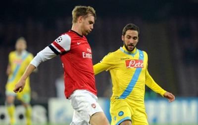 Наполи обыгрывает Арсенал и покидает Лигу Чемпионов