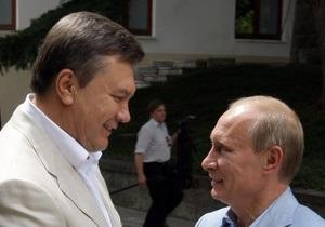 Путин встретился с Януковичем