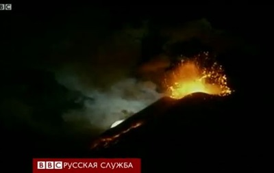 Зрелищное извержение Этны