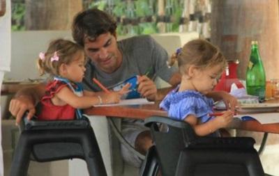 Федерер: Мои дочери считают дни до прихода Санта Клауса