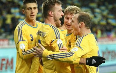 Украина поднялась на одну позицию в рейтинге FIFA