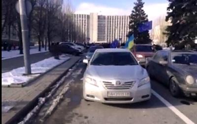 Неизвестные заблокировали выезд донецкого Автомайдана к дому семьи Януковича