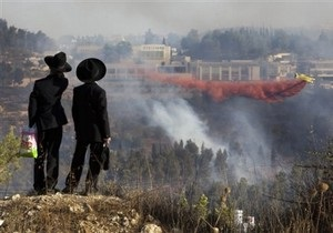 В результате пожара в Иерусалиме есть пострадавшие