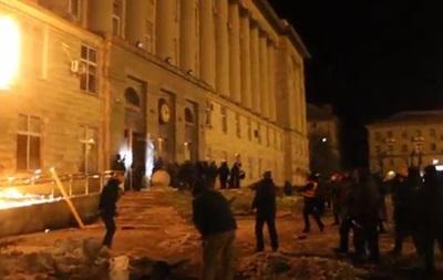 В Черкассах за ночной штурм обладминистрации задержали 16 человек