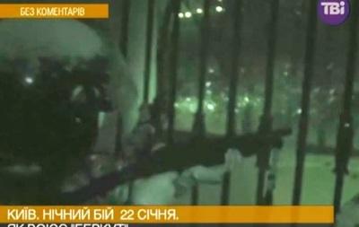 Беркут с ружьями. Видео ночных столкновений 22 января на Грушевского