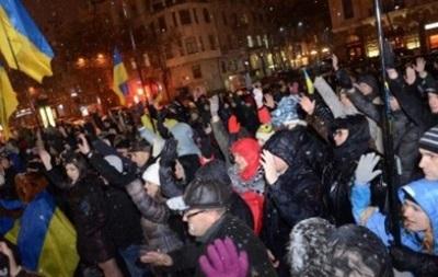 В Харькове активисты Евромайдана проводят шествие по центру города
