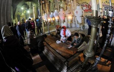 Футболисты Шахтера помолились в храме Гроба Господня