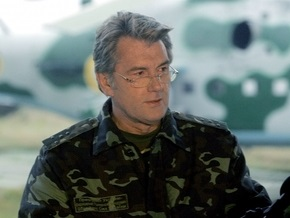 Ющенко едет в Крым на военные учения