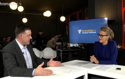 Собчак взяла интервью у Тягнибока