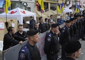 Попов: Палаточный городок возле Печерского суда не помешает проведению Дня Независимости