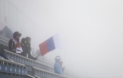 Сильный туман в олимпийском Сочи