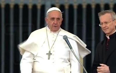 Папа Римский помолился за погибших в Киеве
