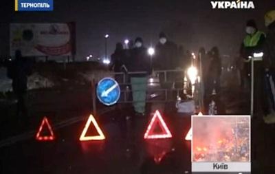 На въездах в Тернополь поставили блокпосты