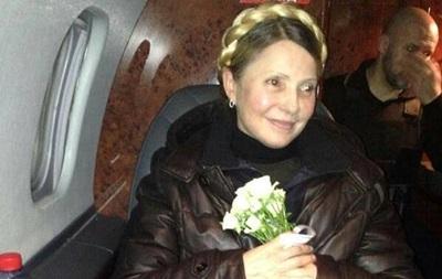 После освобождение Тимошенко отправилась в Киев