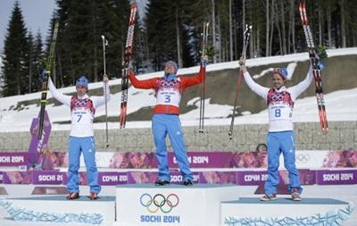 Российские лыжники  оккупировали  пьедестал почета в марафоне