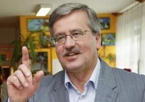 Коморовский об инциденте в Луцке: Ради примирения с Украиной я бы рискнул и с дюжиной яиц