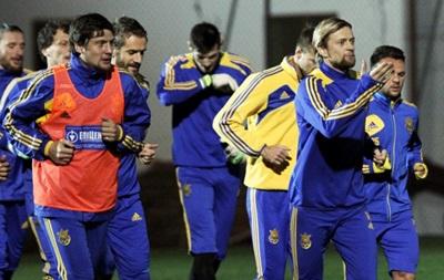 Фотогалерея: Как сборная Украины на территории отеля тренировалась