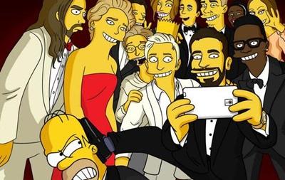 Создатели Симпсонов показали свой вариант  оскаровского  селфи