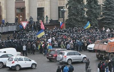В Харькове на площади Свободы проходит митинг в поддержку федерализации Украины